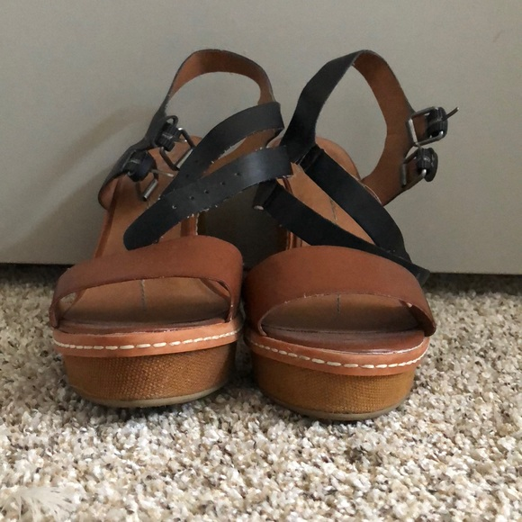 54d82df1a0 Dolce Vita Shoes   Size 10 Black And Brown Wedges   Poshmark